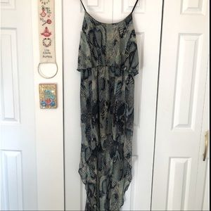 100% Silk High Low Dress